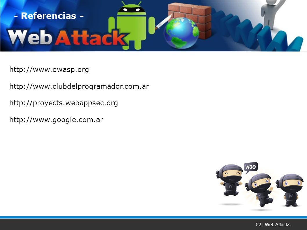 52 | Web Attacks Referencias -