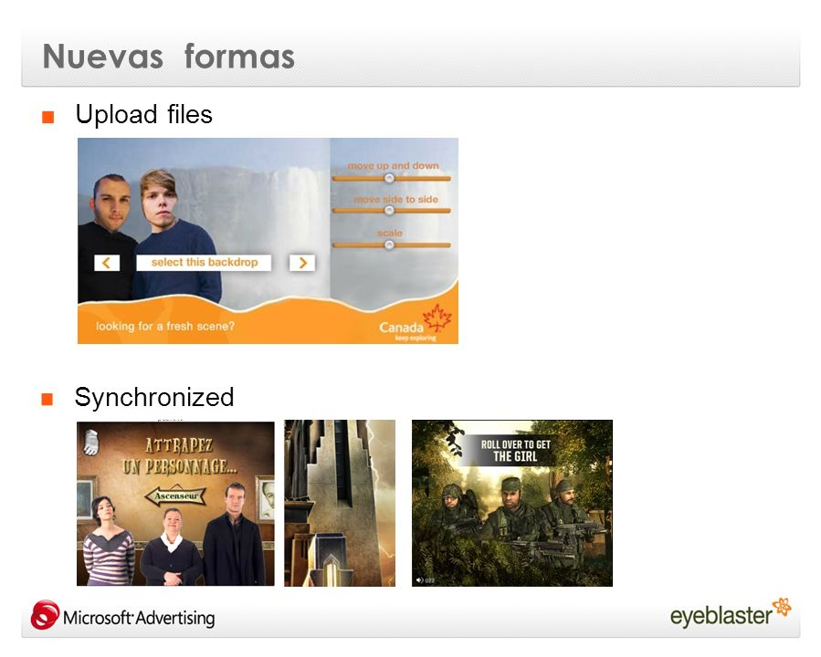 Nuevas formas Upload files Synchronized