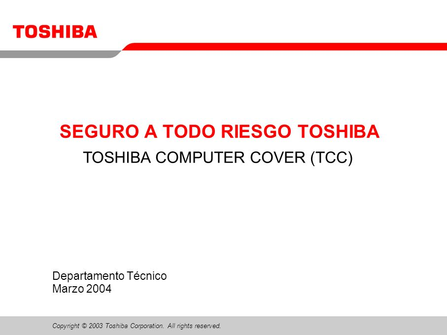 Copyright © 2003 Toshiba Corporation. All rights reserved.