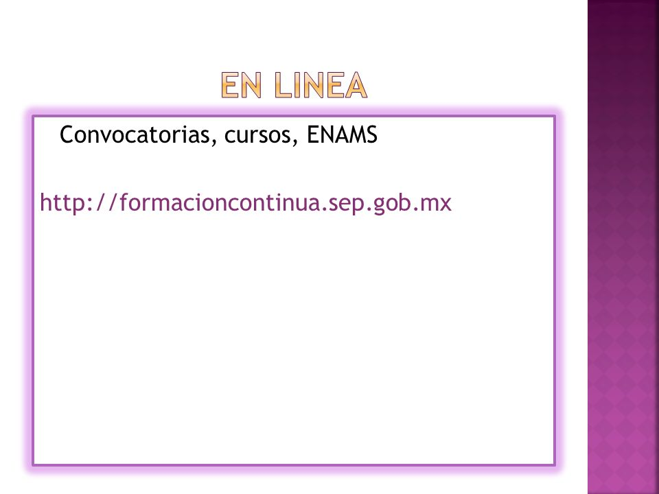 Convocatorias, cursos, ENAMS