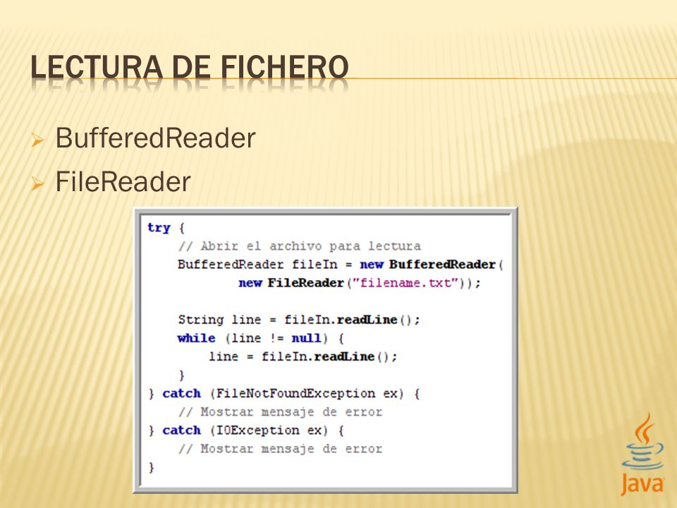 BufferedReader FileReader