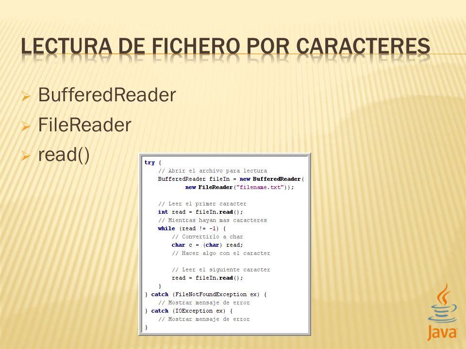 BufferedReader FileReader read()