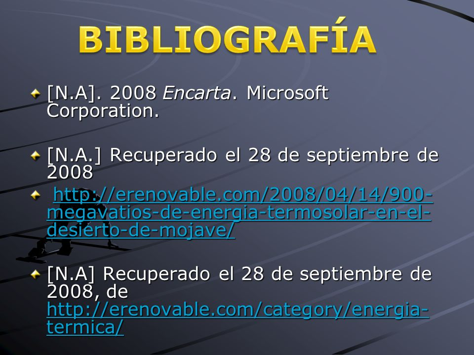 [N.A] Encarta. Microsoft Corporation.