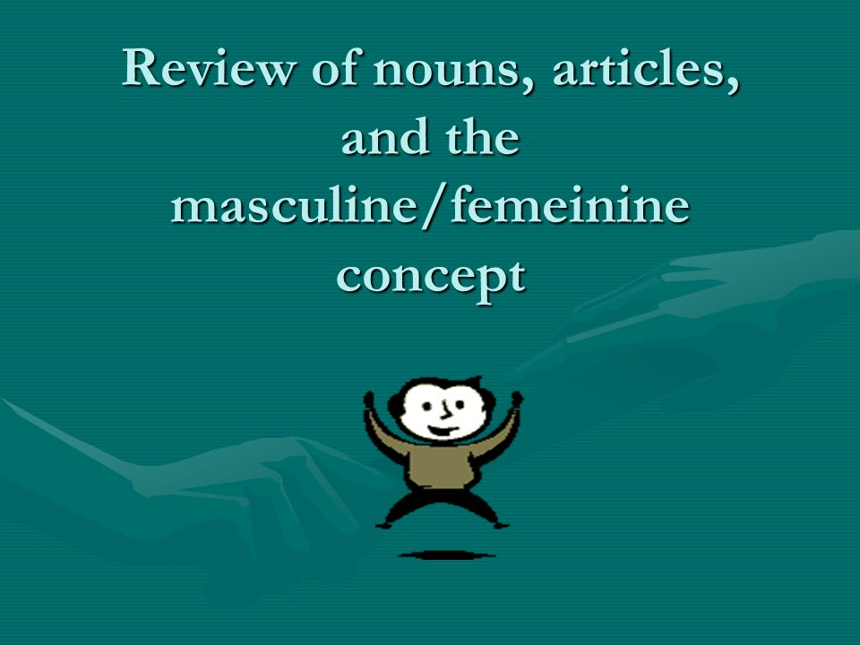 Review of nouns, articles, and the masculine/femeinine concept