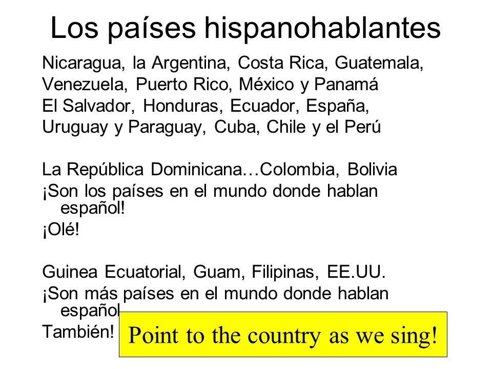 Apuntes: Los países hispanohablantes Spanish-speaking countries (p12-13)