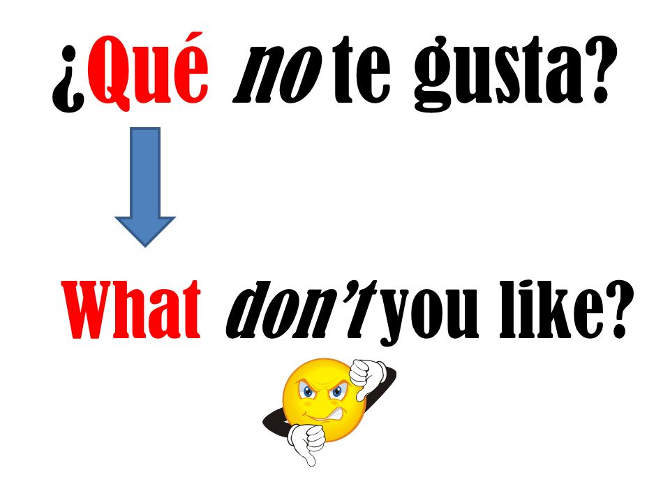 ¿Qué no te gusta What dont you like