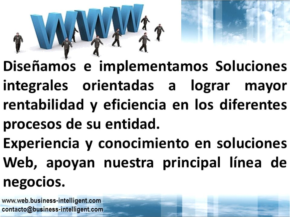 www.web.business-intelligent.com contacto@business-intelligent.com