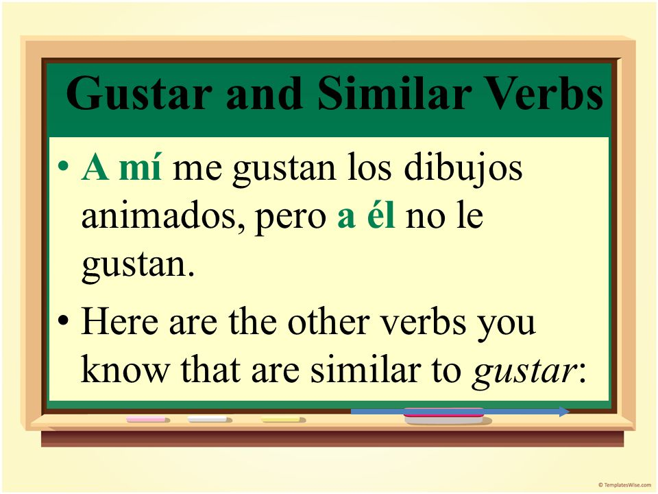 Gustar and Similar Verbs To emphasize or clarify who is pleased, you can use an additional a + pronoun: