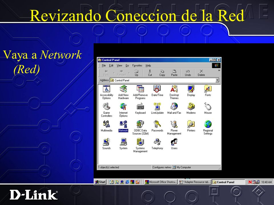 Revizando Coneccion de la Red Chequear por luces de connecion Verificar que TCP/IP ha sido instalado y configurado propiamente Los PC/Servidores etc tienen direccion IP.