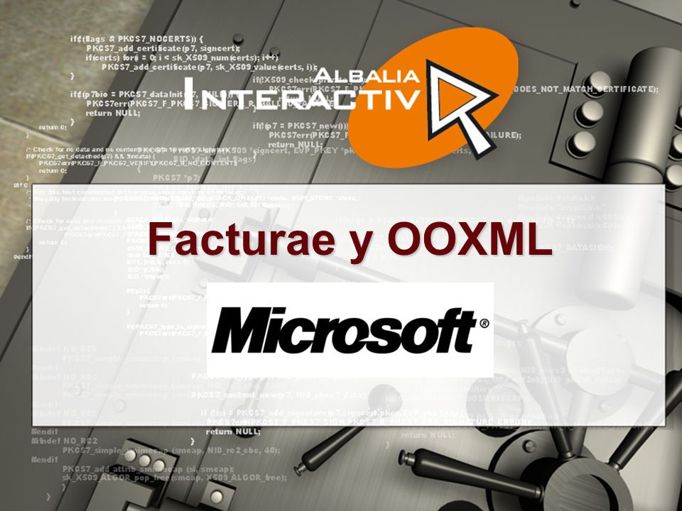 Facturae y OOXML