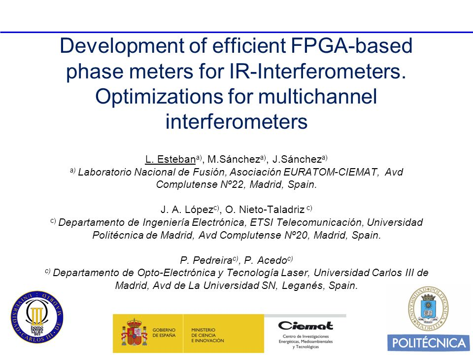 Development of efficient FPGA-based phase meters for IR-Interferometers.