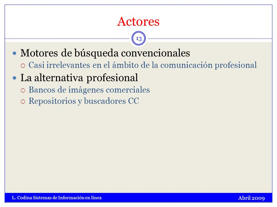 Actores Abril 2009 L.