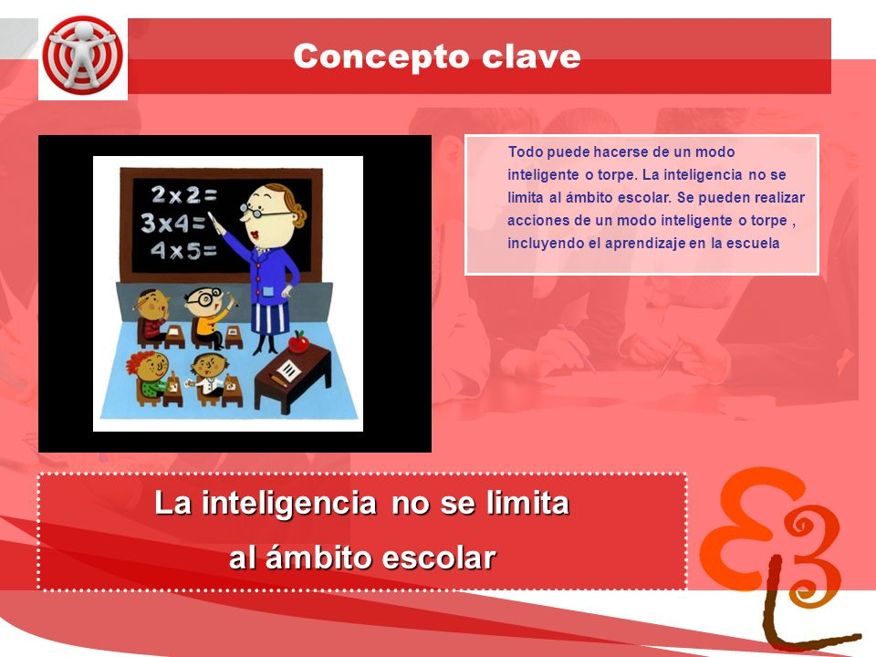 learning to learn network for low skilled senior learners Concepto clave Todo puede hacerse de un modo inteligente o torpe.