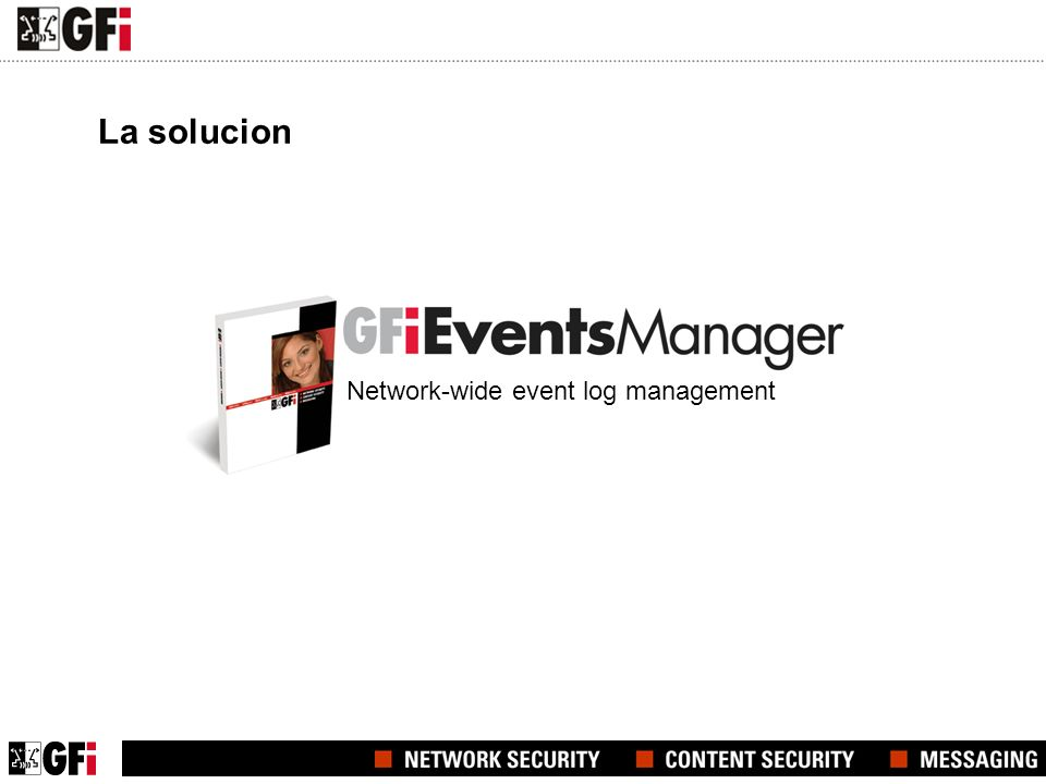 La solucion Network-wide event log management