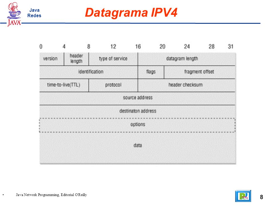 8 Java Network Programming, Editorial O Reilly Datagrama IPV4 Java Redes