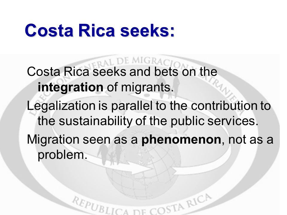 Costa Rica seeks: Costa Rica seeks and bets on the integration of migrants.