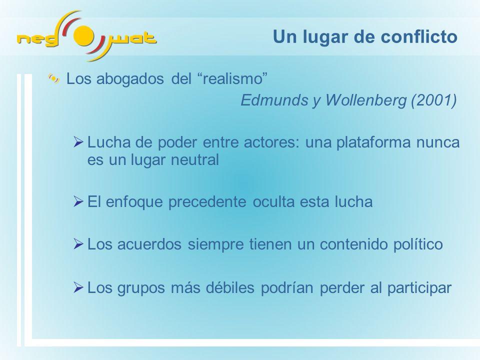 Plataformas de múltiples grupos de interés Equipo Negowat