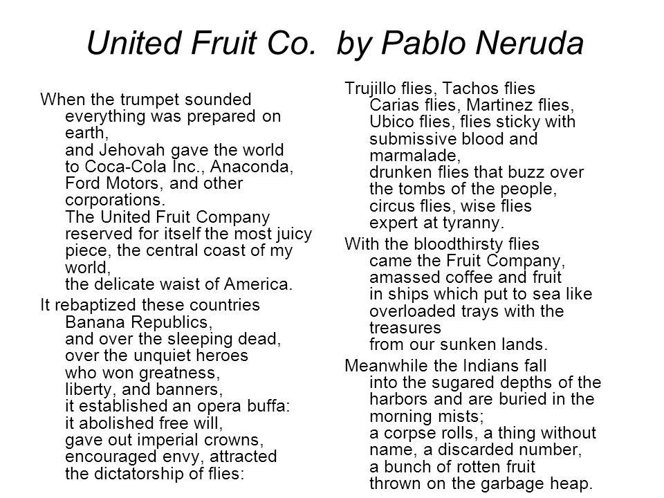 pablo neruda united fruit company