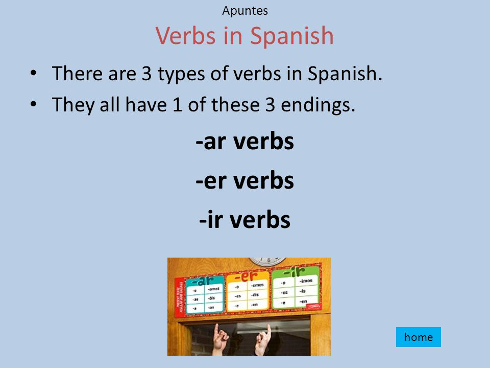 Apuntes What is a verb. A verb is a word to describe an action.