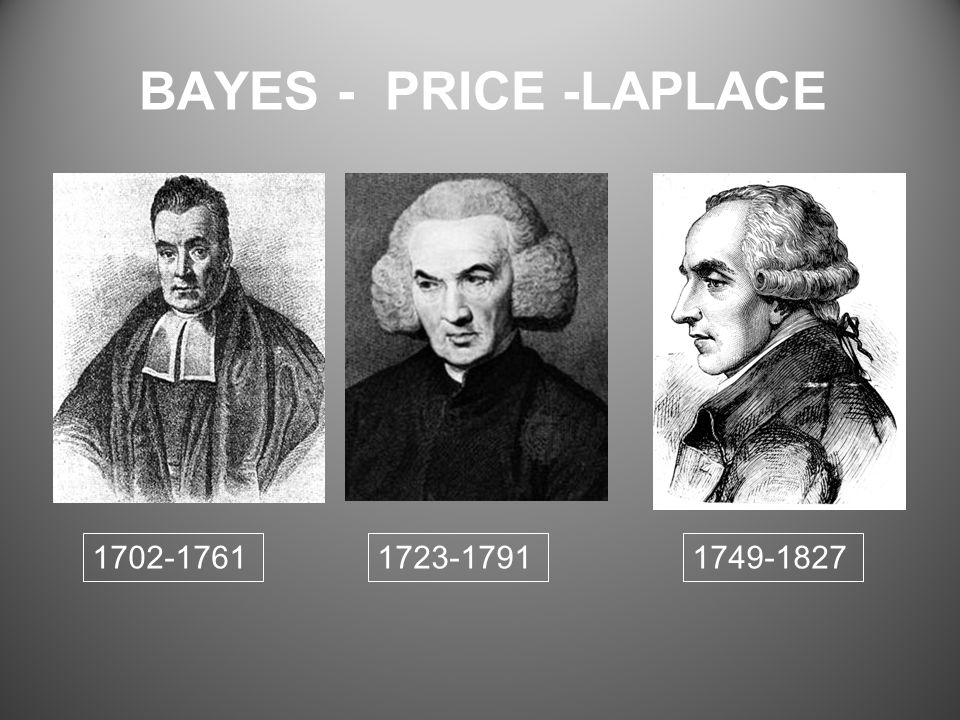 BAYES - PRICE -LAPLACE 1702-17611723-17911749-1827
