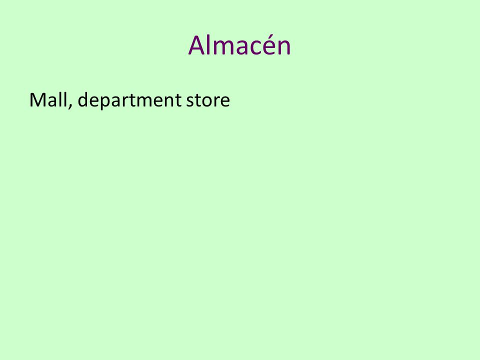 Almacén Mall, department store