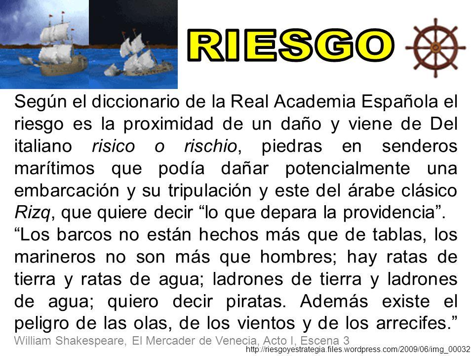 Según El Diccionario De La Real Academia Española El Riesgo