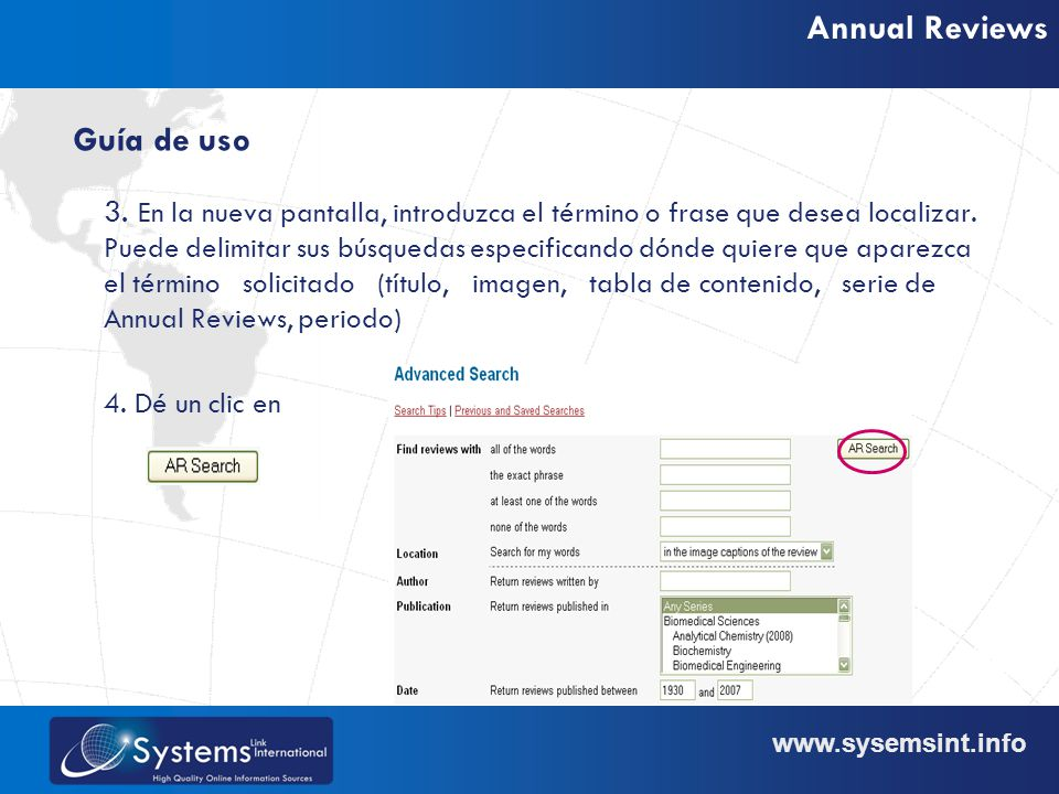 www.sysemsint.info Annual Reviews 3.