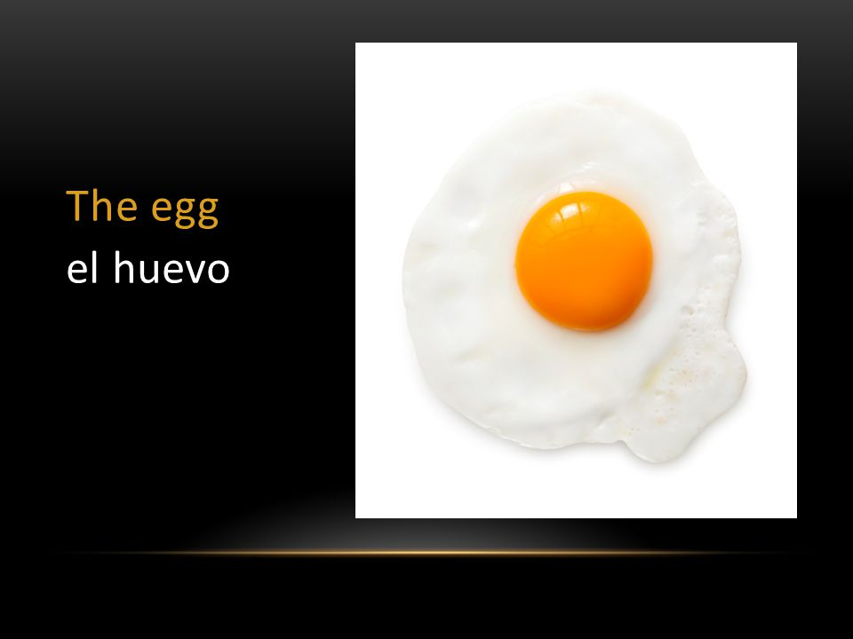 The egg el huevo