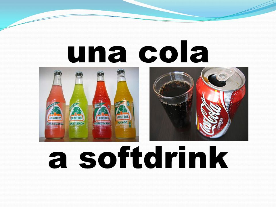 una cola a softdrink