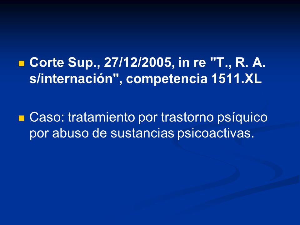 Corte Sup., 27/12/2005, in re T., R. A.
