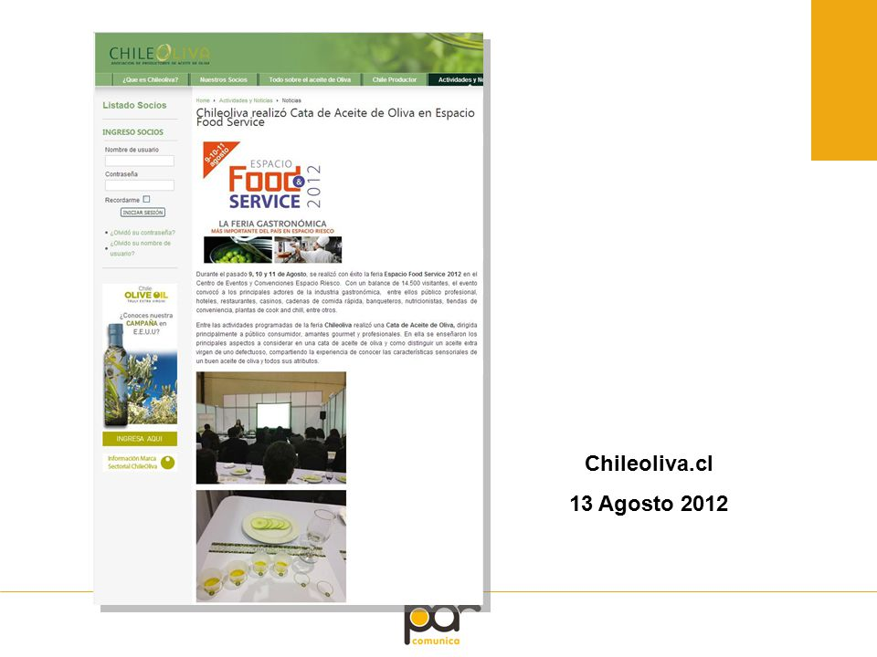 Chileoliva.cl 13 Agosto 2012
