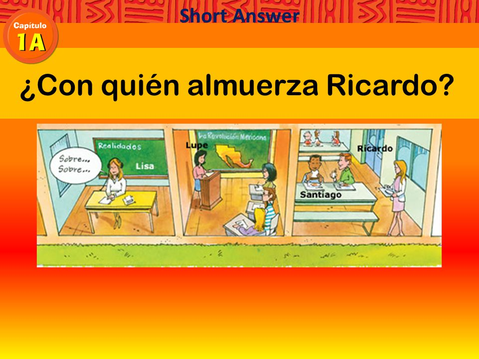 respetar al profesor Hay que respetar al profesor. respect the teacher Short Answer