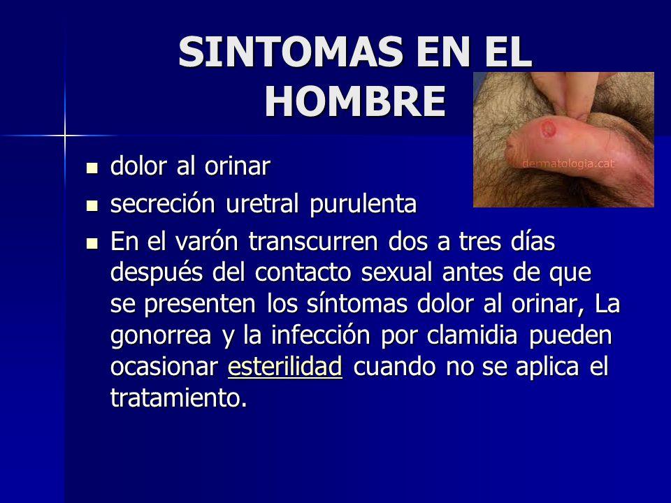 síntomas de gonorrea y clamidia en varones