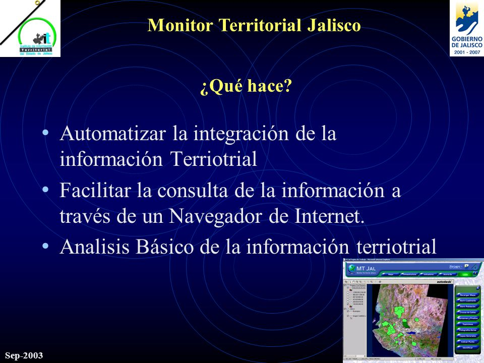 Monitor Territorial Jalisco Sep-2003 ¿Qué hace.