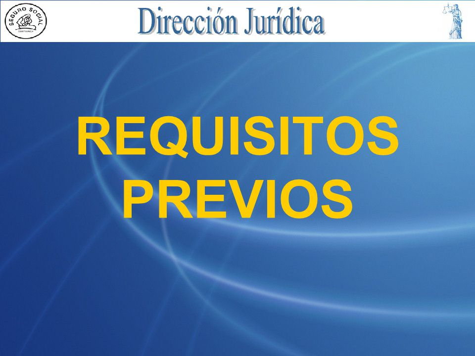 REQUISITOS PREVIOS