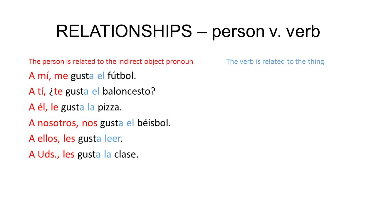RELATIONSHIPS – person v.