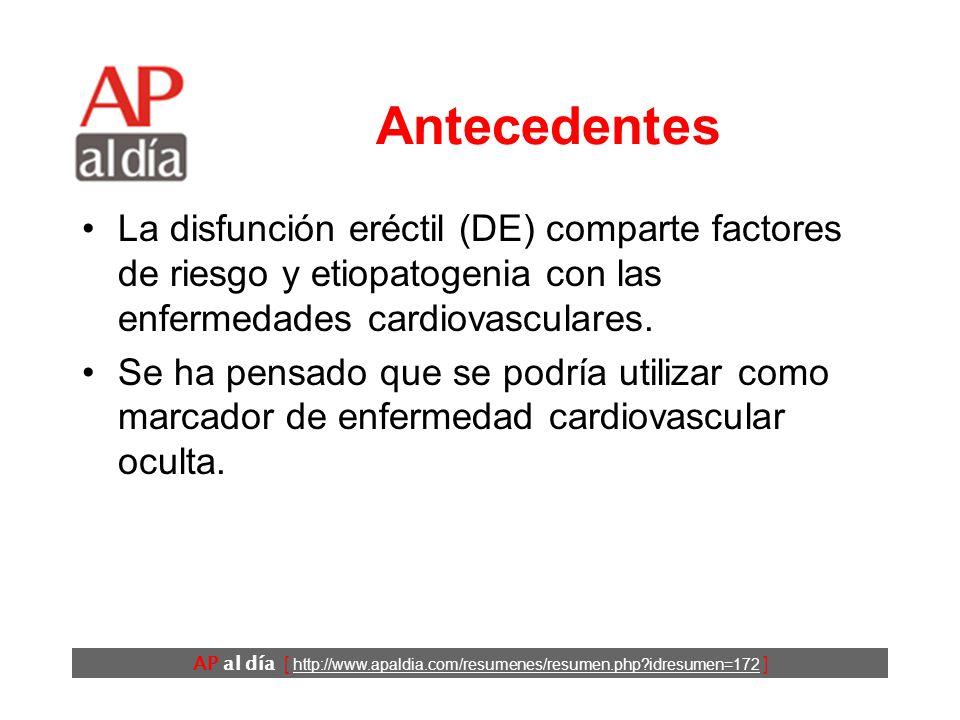 disfunción eréctil cardiovascular