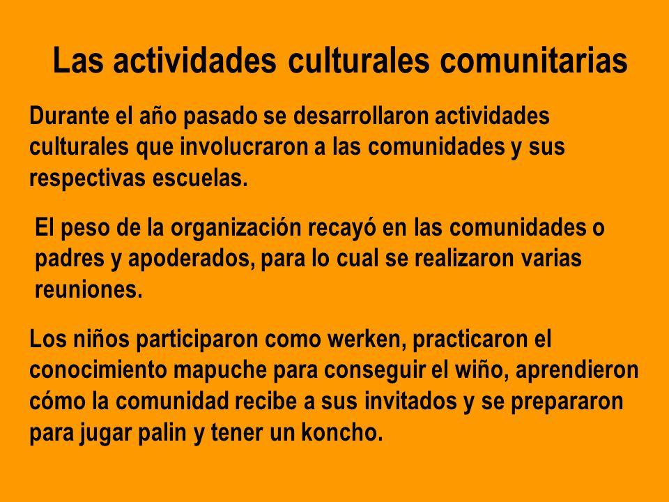 Experiencia de participación comunitaria en el marco de la ejecución ...