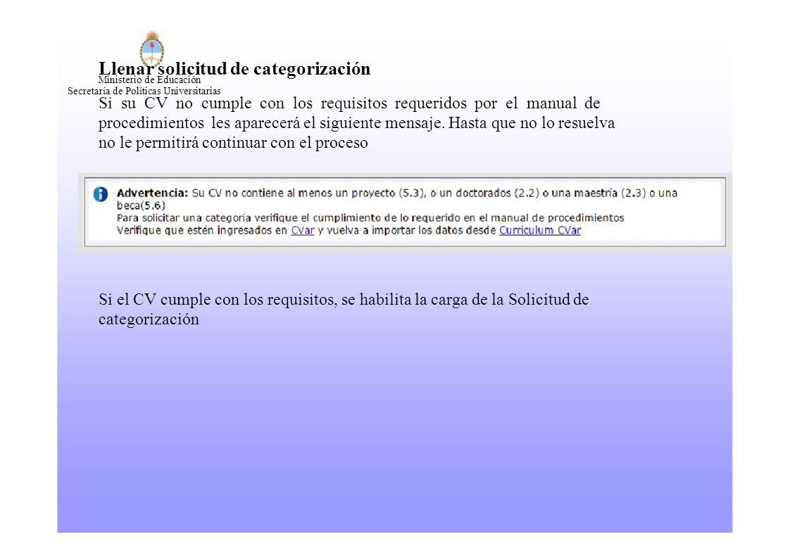 Programas de Incentivos SPU Convocatoria Categorización 2014 ...