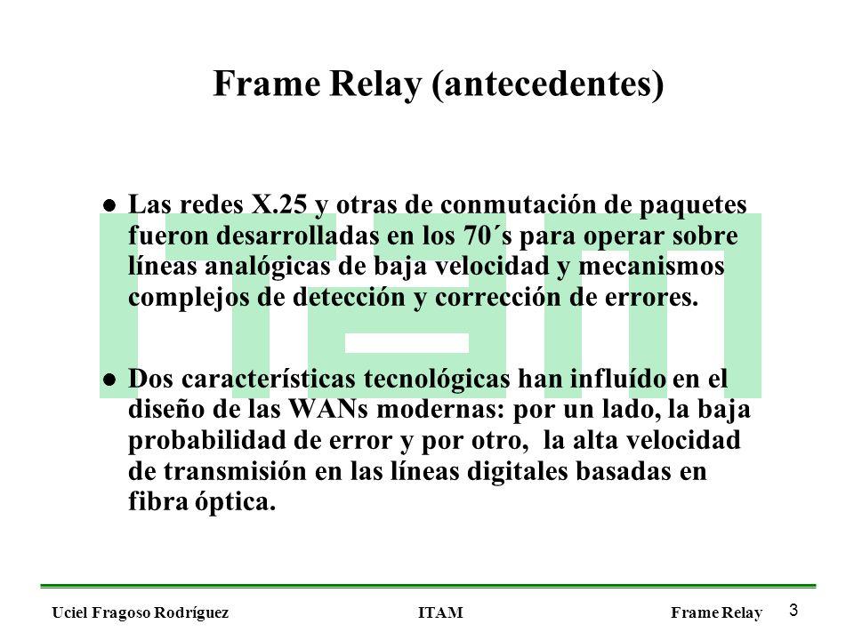 1 Uciel Fragoso RodríguezITAMFrame Relay. 2 Uciel Fragoso ...
