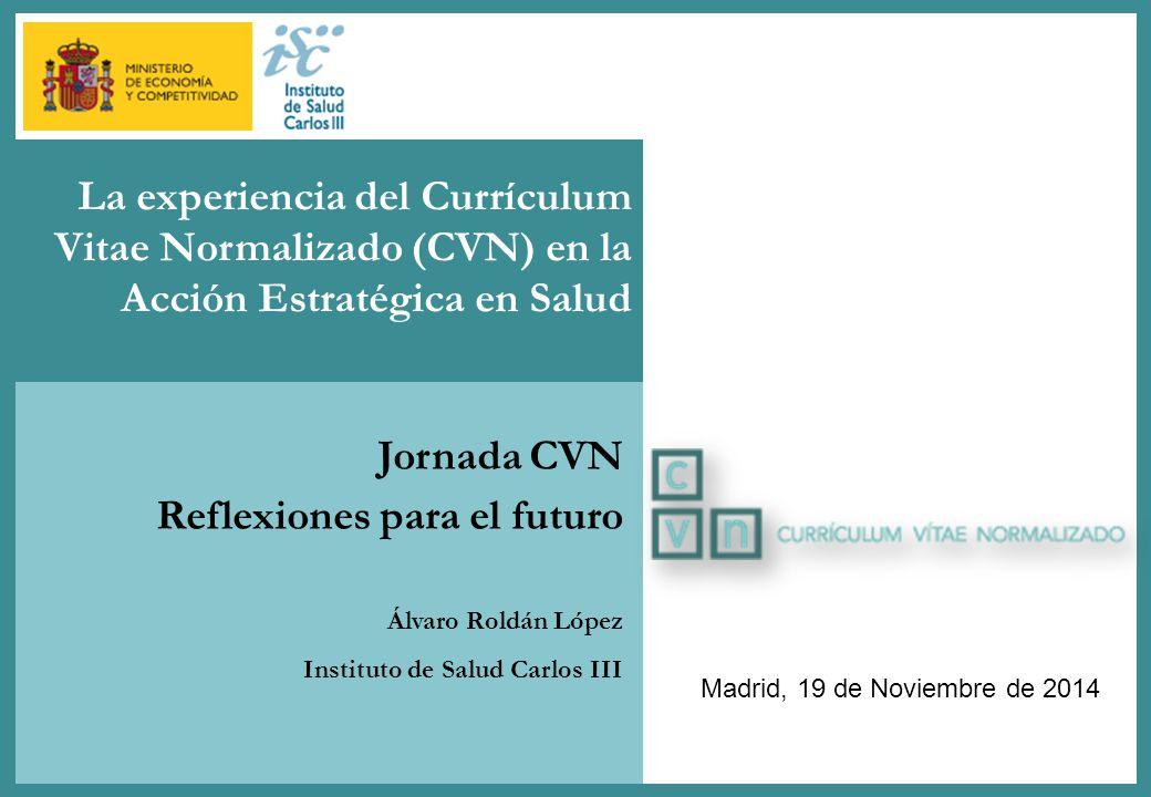 Titular Primer Nivel Jornada Cvn Reflexiones Para El Futuro Madrid