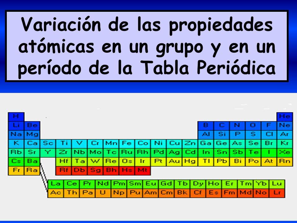 Variacin de las propiedades atmicas en un grupo y en un perodo de 1 variacin de las propiedades atmicas en un grupo y en un perodo de la tabla peridica urtaz Gallery