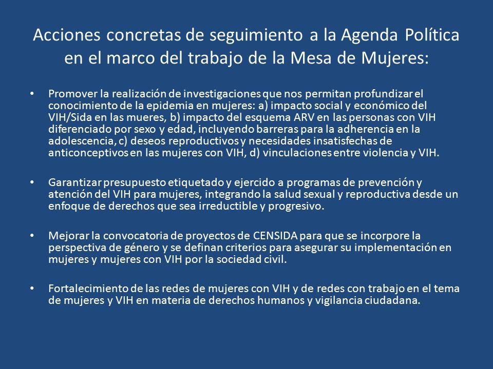 Comité de Prevención CONASIDA MESA DE MUJERES Integrada por: CENSIDA ...