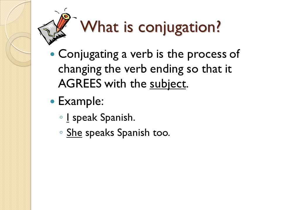What is conjugation.