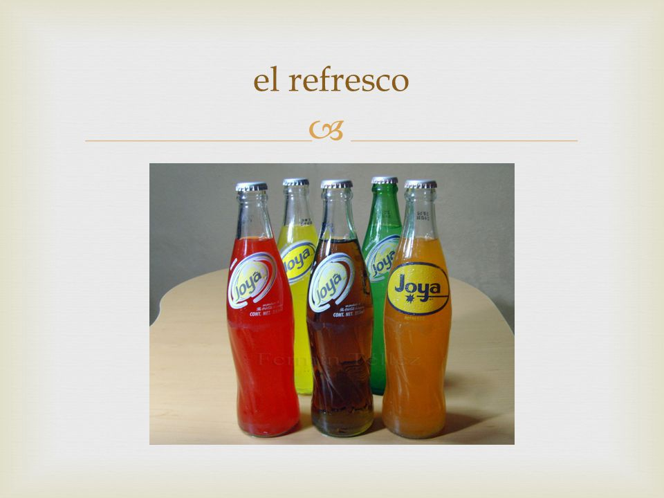  el refresco