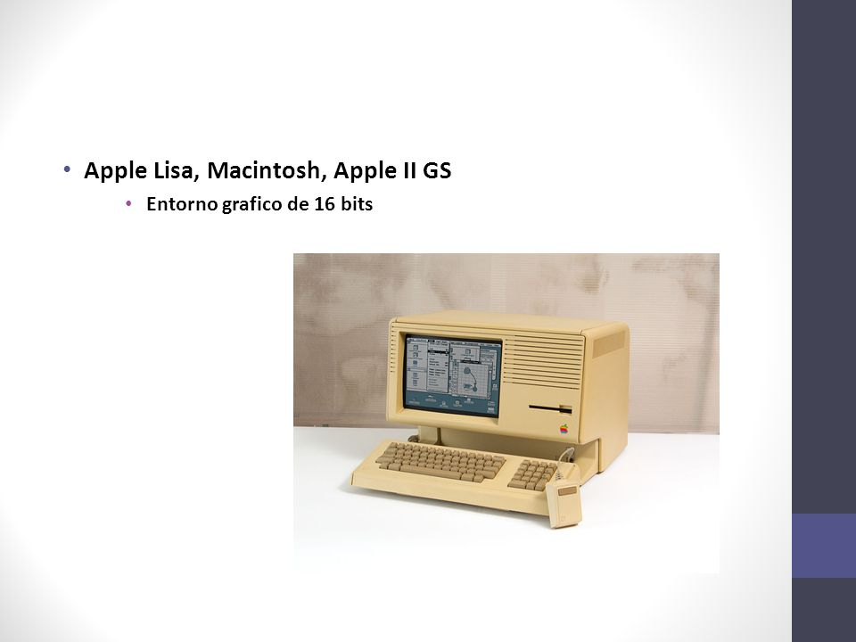 Apple Lisa, Macintosh, Apple II GS Entorno grafico de 16 bits