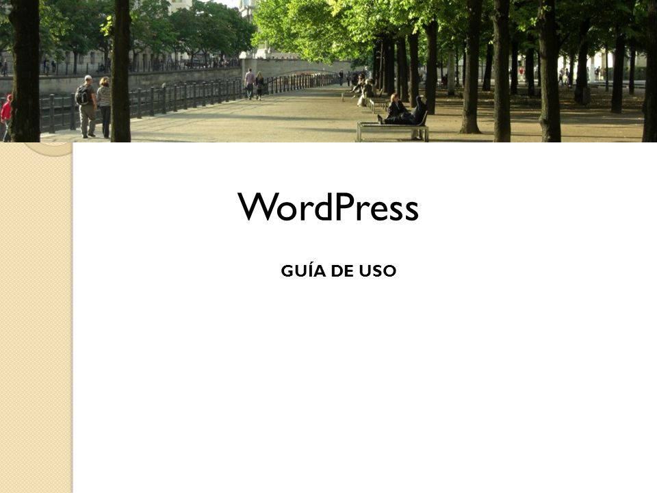 WordPress GUÍA DE USO