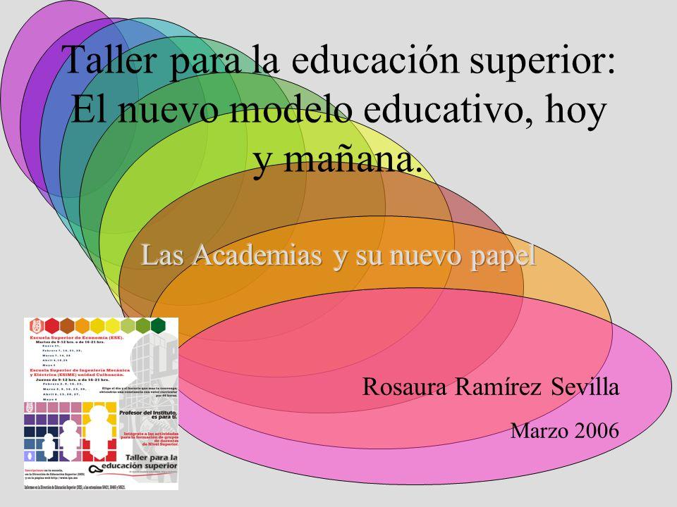 Taller para la educación superior: El nuevo modelo educativo, hoy y ...
