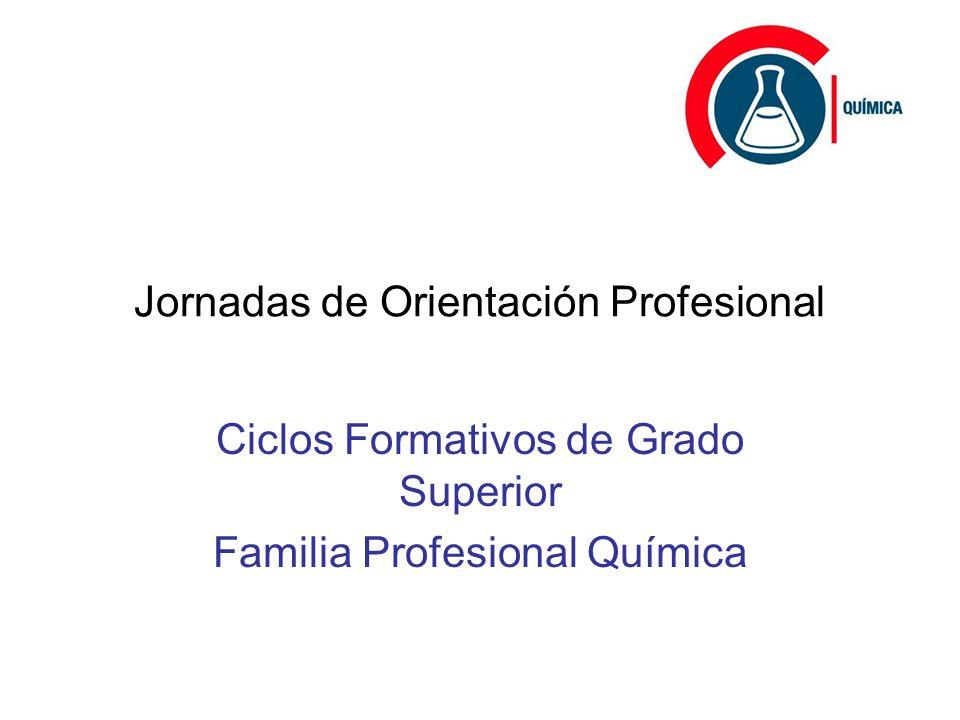 Jornadas De Orientación Profesional Ciclos Formativos De