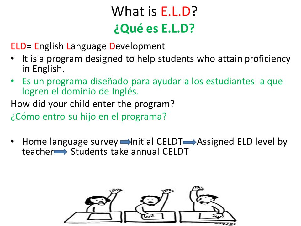 What is E.L.D. ¿Qué es E.L.D.